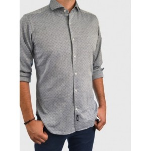 Men's shirt patterned slim fit