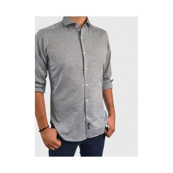 Men's shirt patterned slim fit