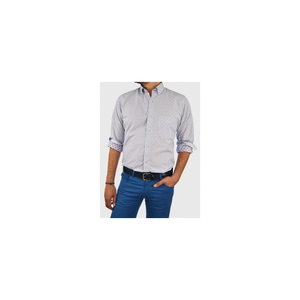 Ανδρικό πουκάμισο ρίγα μικροσχέδιο