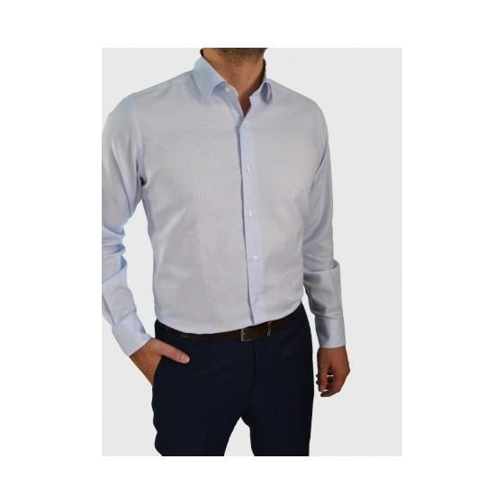 Ανδρικό πικέ γαλάζιο πουκάμισο