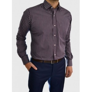Men's striped business shirt