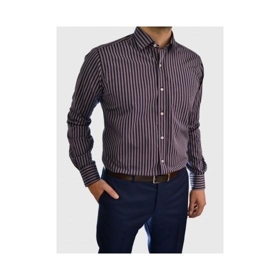 Men's striped business shirt