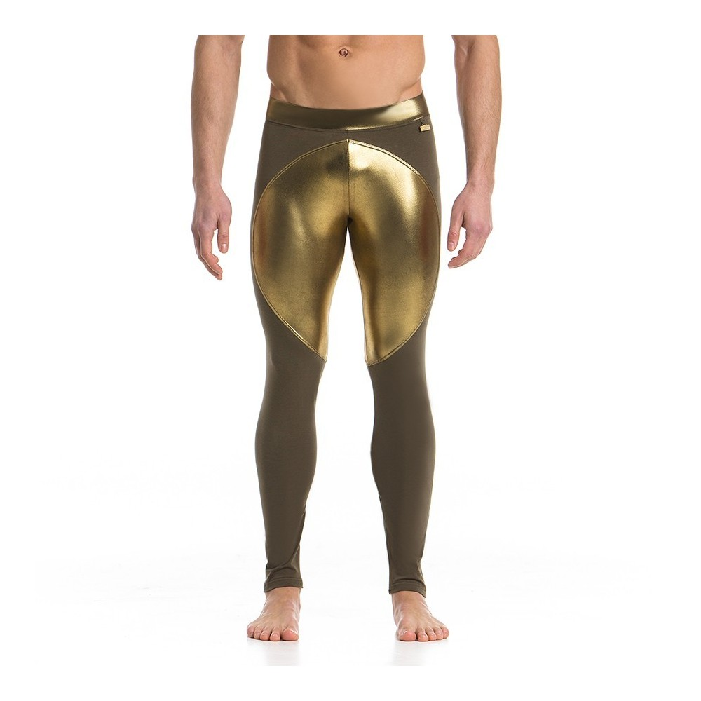 Men's LEGGINGS HAKI / GOLD 16761