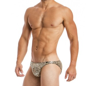 Men's brief gold low cut 20712