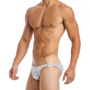 Men's brief silver low cut 20712