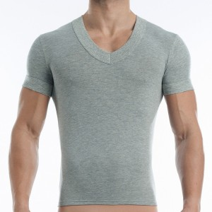 Men's (V) T-shirt grey 17041