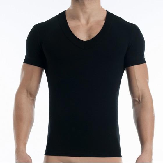 Men's (V) T-shirt black 17041