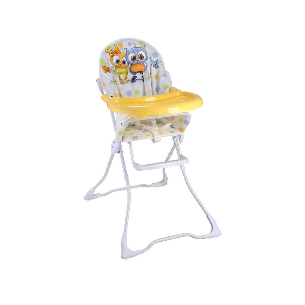 Feeding Chair CANDY White Baby Owls