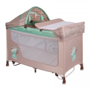 Παρκοκρέβατο SAN REMO 2 Layers Plus Rocker BEIGE&GREEN SLEEPING BEAR