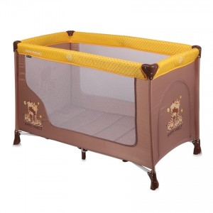 Baby Cot SAN REMO 1 Layer BEIGE&YELLOW HAPPY FAMILY