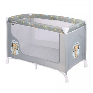 Baby Cot SAN REMO 1 Layer GREY CUTE KITTEN