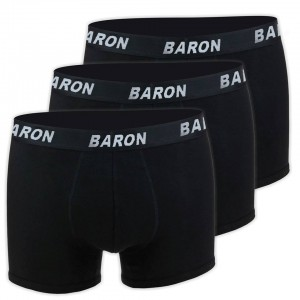 MEN'S BOXER BLACK SET 3 PACK