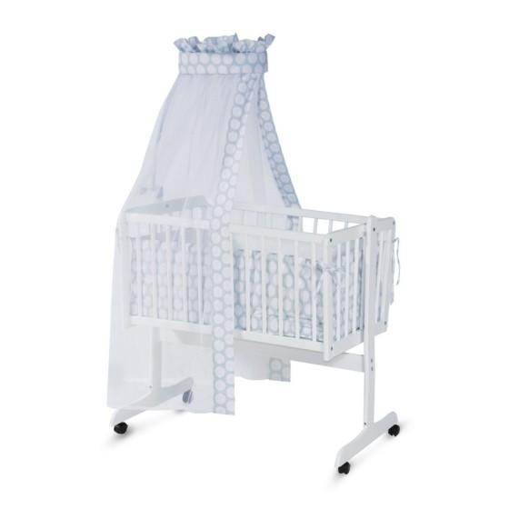 Σετ Βρεφικό ξύλινο λίκνο White Eva με προίκα μωρού 10150270025Α+2005121