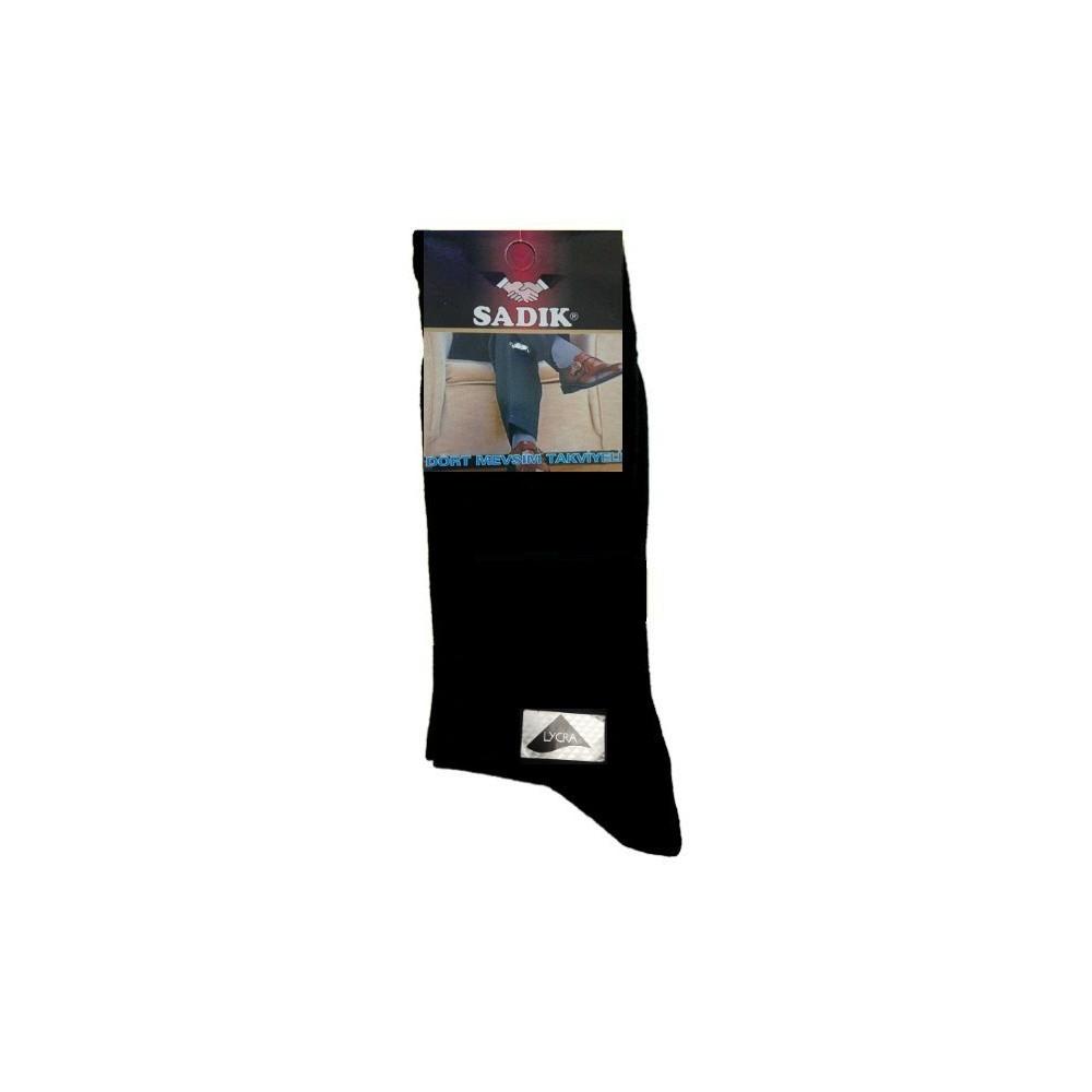 Ανδρική κάλτσα Βαμβάκι & LYCRA Μαυρη
