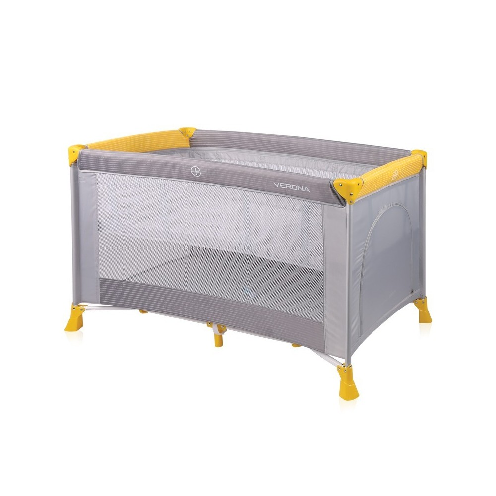 Baby Cot VERONA 2 Layers GREY&YELLOW