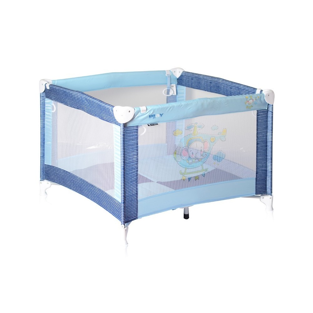 Baby Cot PLAY Blue Helicopter