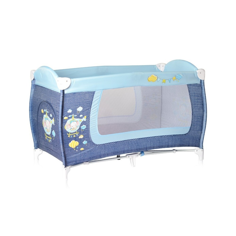 Baby Cot DANNY 1 Layer Blue Helicopter