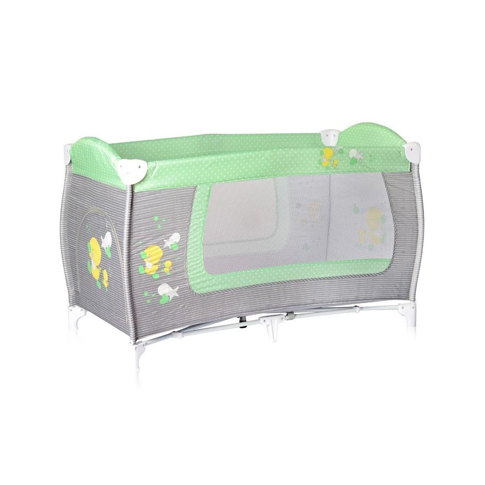 Baby Cot DANNY 1 Layer Grey&Green ZaZa