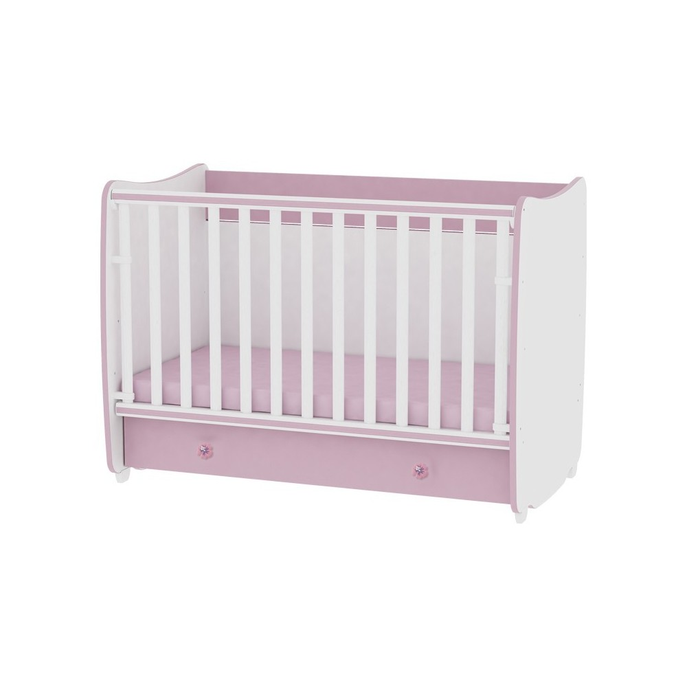 Bed DREAM 60x120 White/Pink