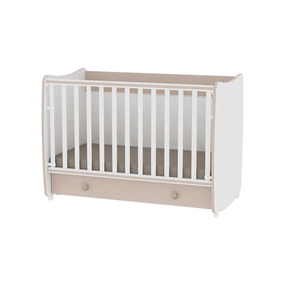 Bed DREAM 70x140 White/Oak