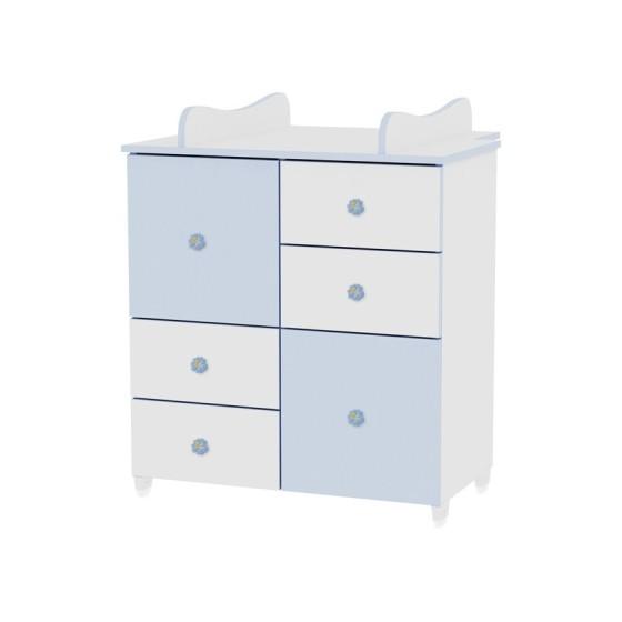 Βρεφική Συρταριέρα-Αλλαξιέρα μωρού White&Blue