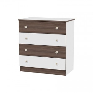 Dresser White/Walnut