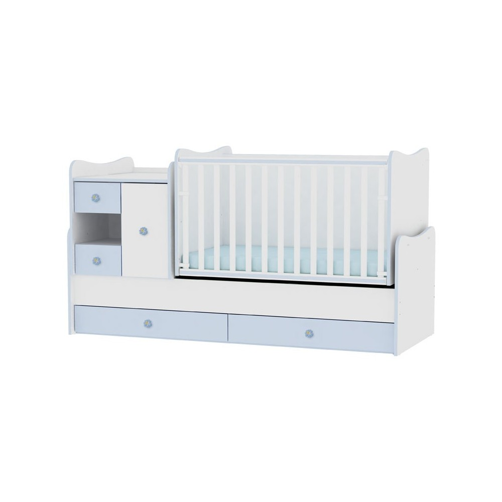 Bed MiniMAX White/Blue