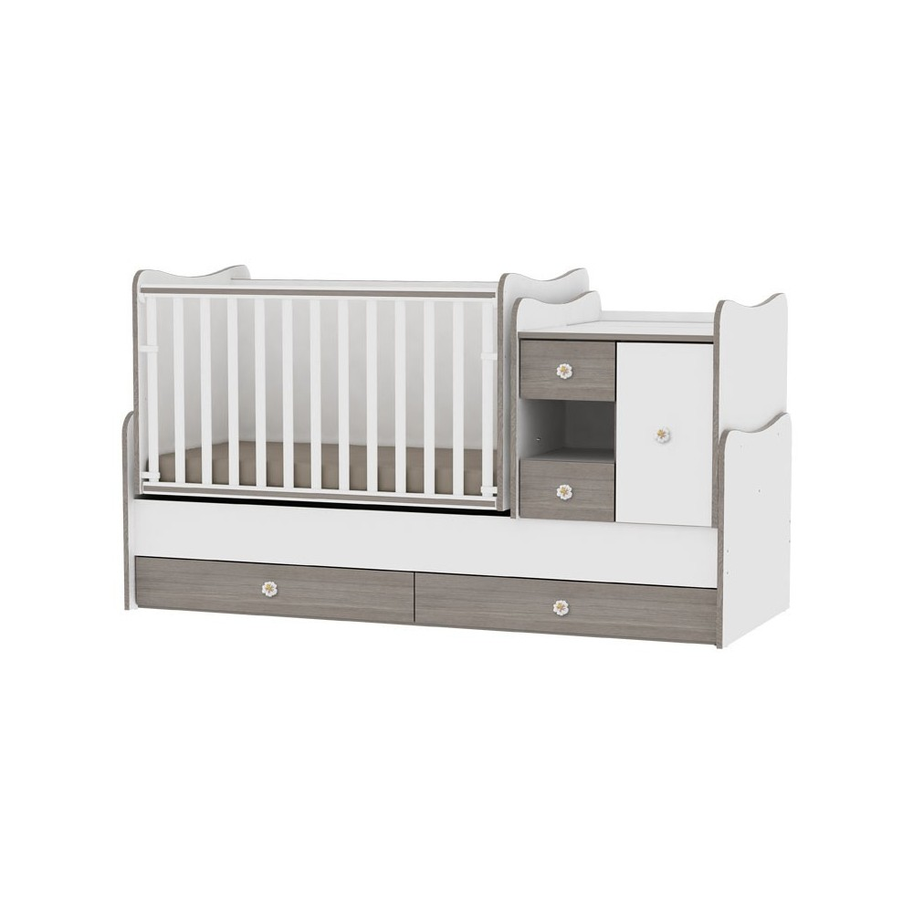 Bed MiniMAX White/Coffee