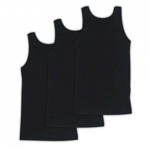 Men's tanktop 3 Pack Black 1970-3pack
