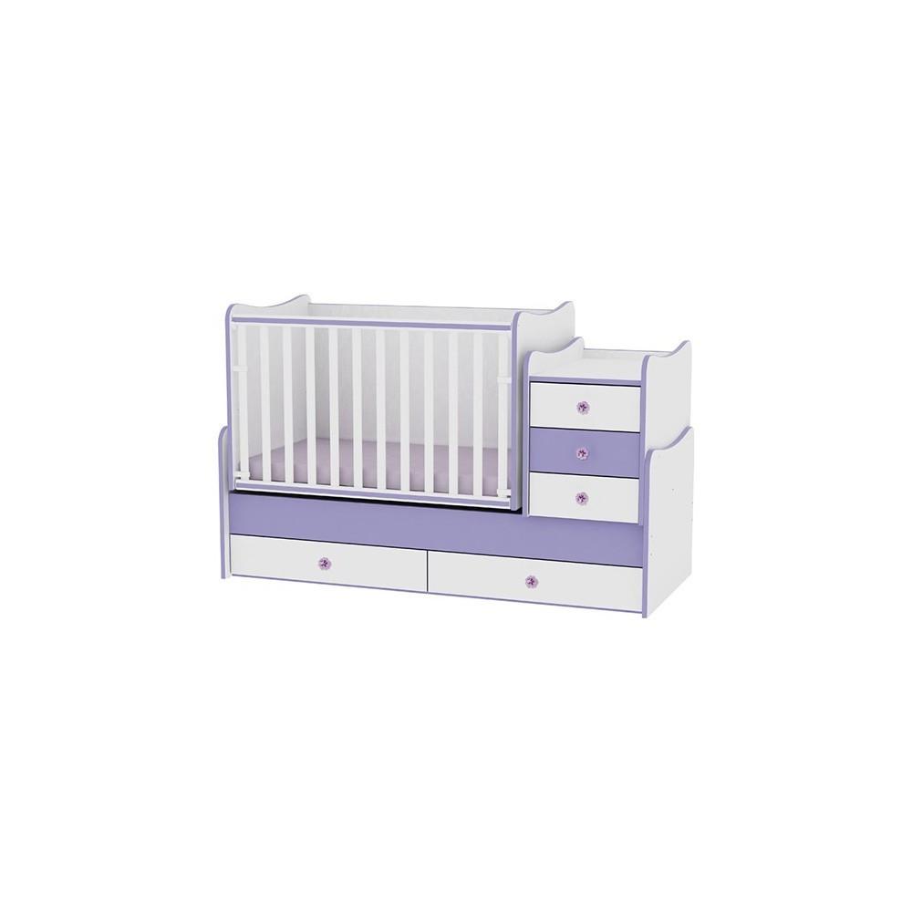 Bed MAXI PLUS White/Violet