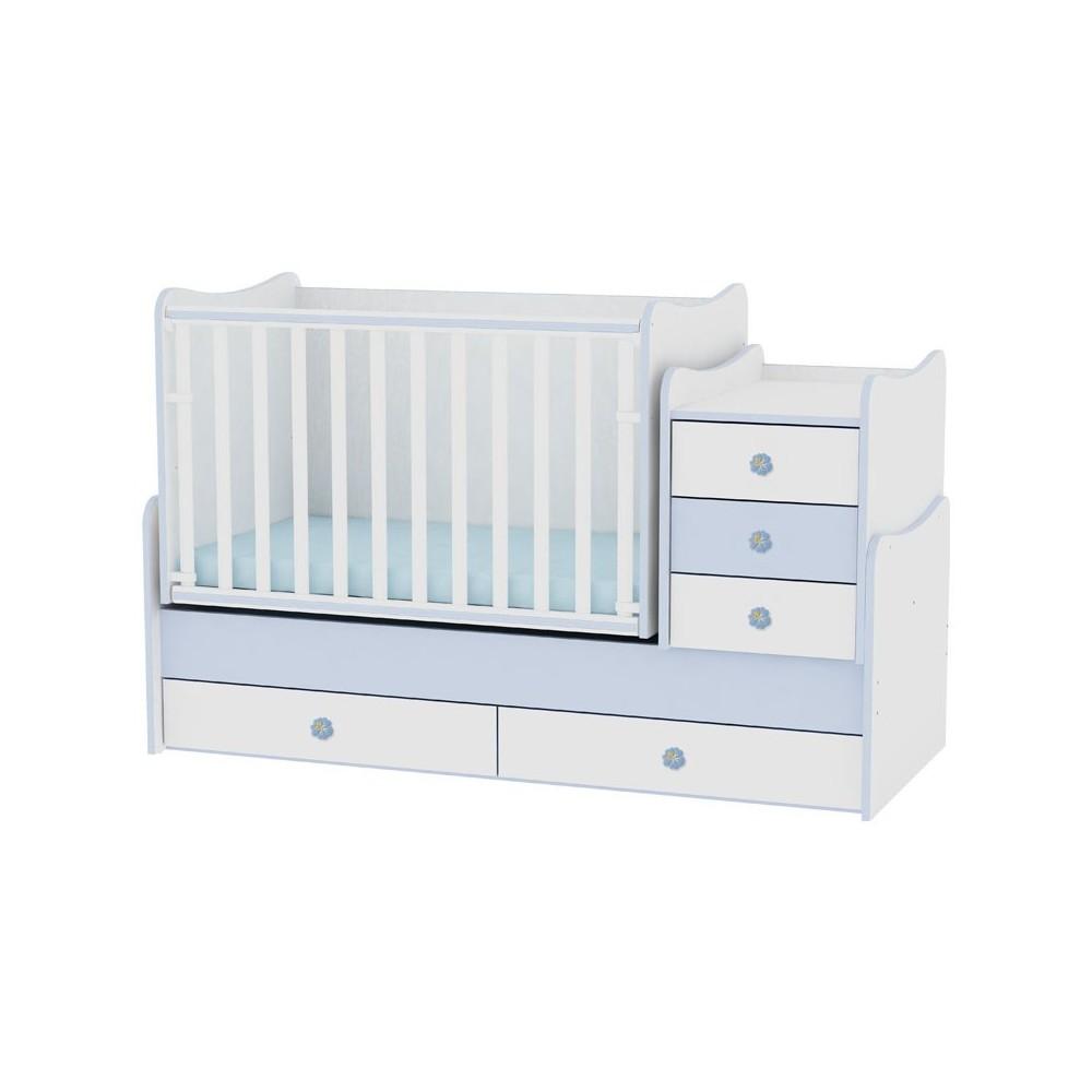 Bed MAXI PLUS White/Blue