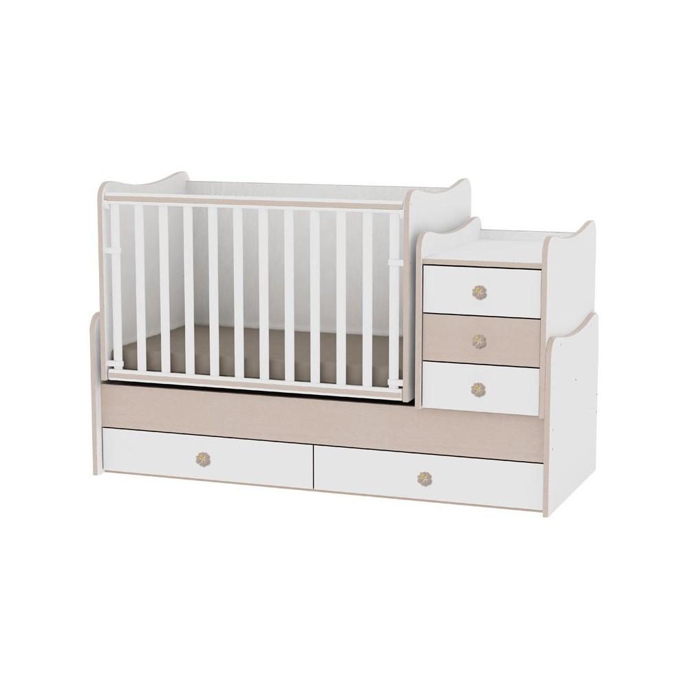 Bed MAXI PLUS White/Oak