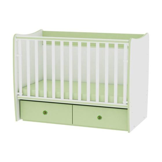 Bed MATRIX White/Green