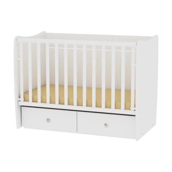 Βρεφικό κρεβάτι κούνια MATRIX White