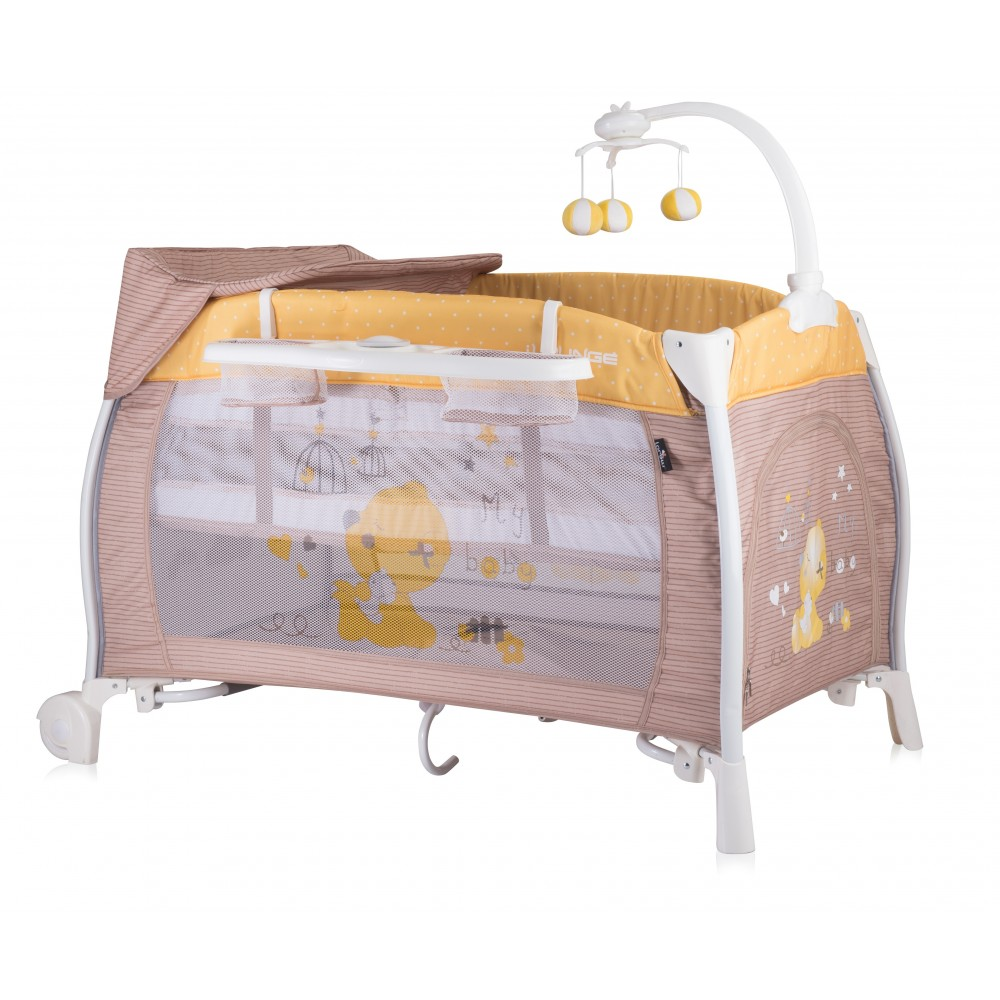 Baby Cot ILOUNGE Beige&Yellow My Baby