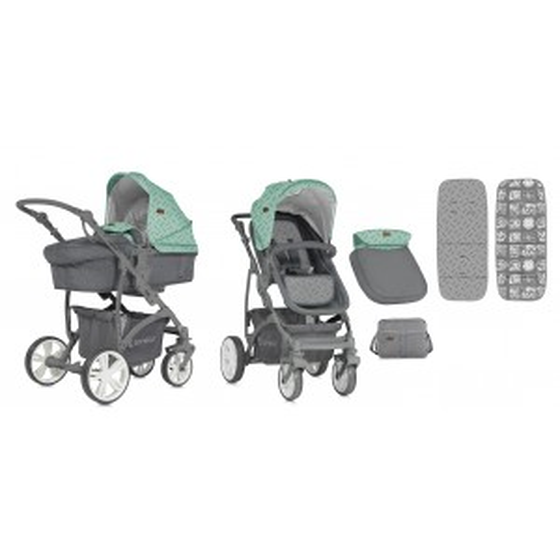 Combi Stroller  VISTA  2 in 1 Green&Grey