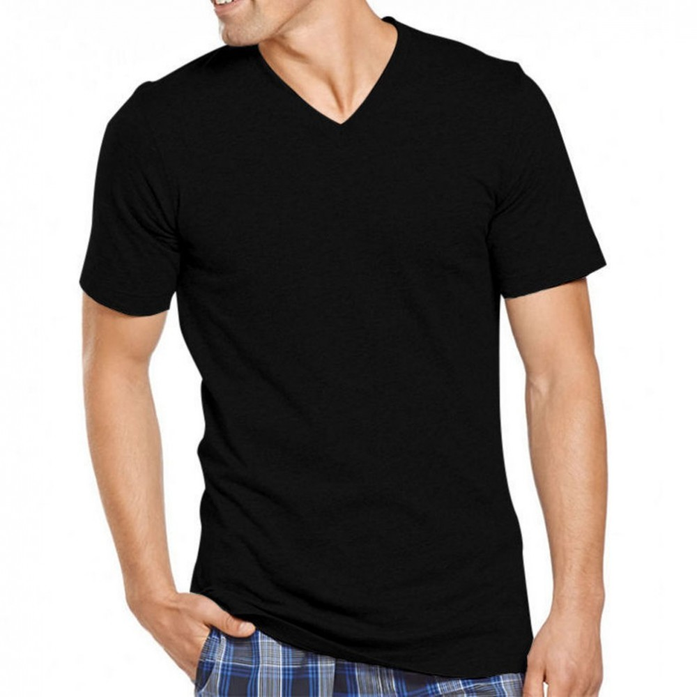 Men's t-shirt black (V) Neck