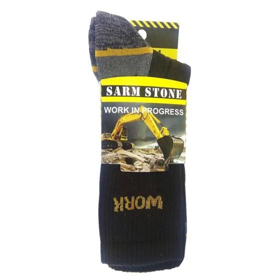 Ανδρικές κάλτσες εργασίας σε συσκευασία 3 τεμαχίων Μαύρες
