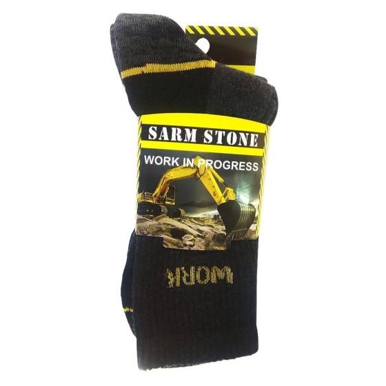 Ανδρικές κάλτσες εργασίας σε συσκευασία 3 τεμαχίων Ανθρακί