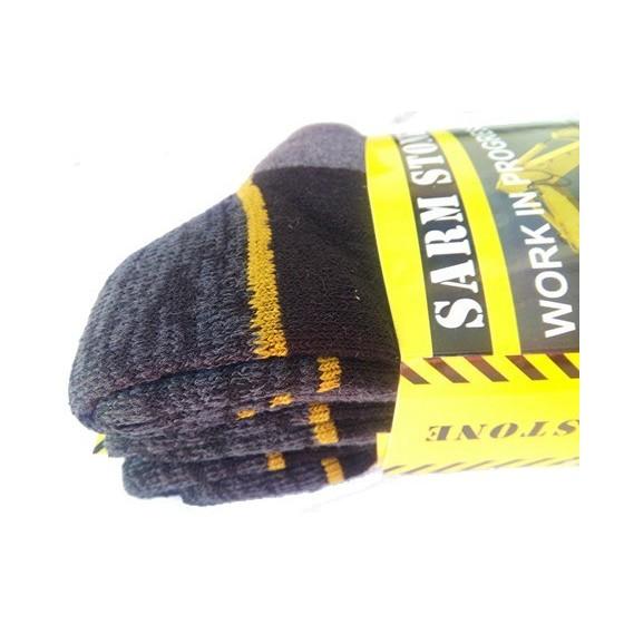 Ανδρικές κάλτσες εργασίας σε συσκευασία 3 τεμαχίων Γκρί
