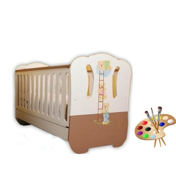 Βρεφικό Κρεβάτι Alexandros White&Chocolate
