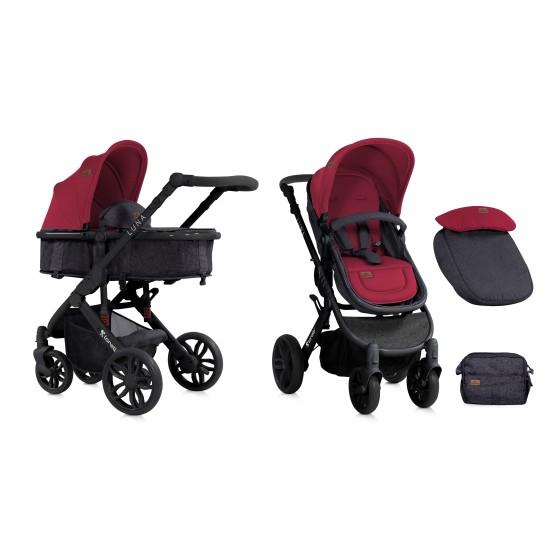 Baby Stroller Combi LUNA  2 ιν 1 Black&Red