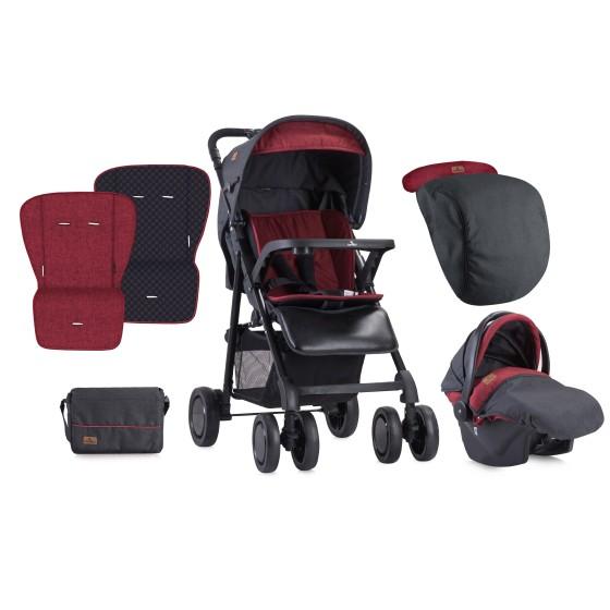 Παιδικό καροτσι AERO SET Black&Red
