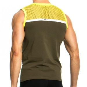 Men's Sleeveless 05831_yellow