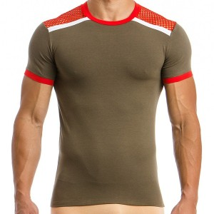 Men's T-shirt 05841_khaki