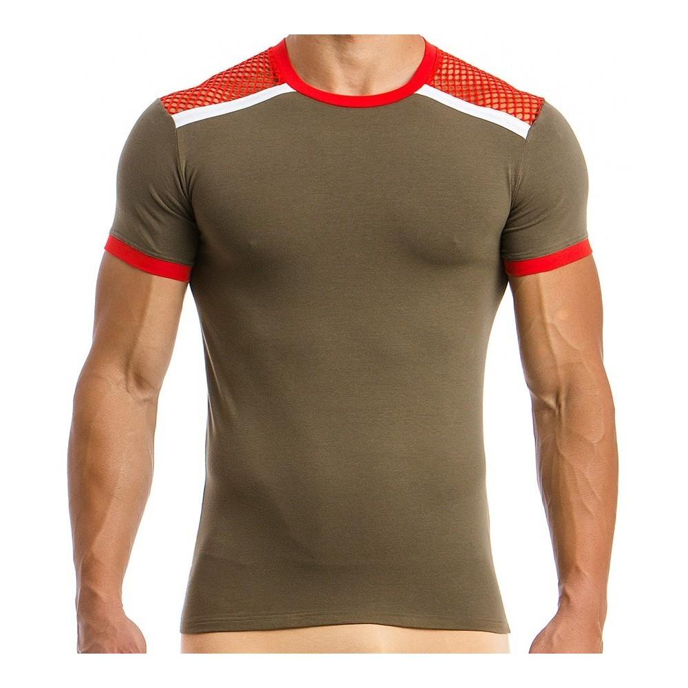 Men's T-shirt 05841_khaki