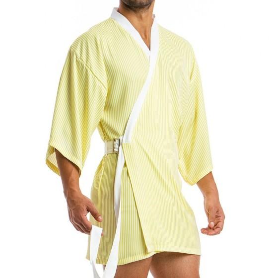 Men's Kimono 06851_yellow