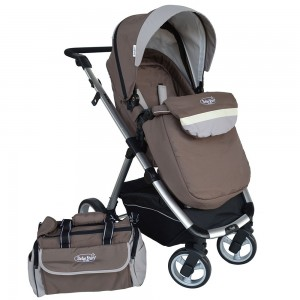 Baby Stroller Prado 2 in 1 Brown 340-182