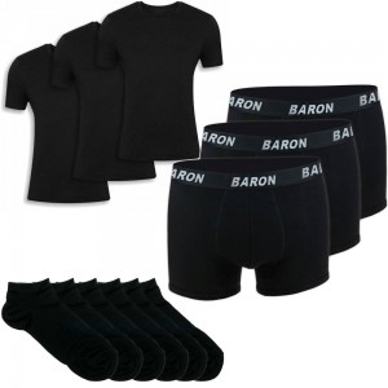 Σετ 6 κάλτσες κοντές, 3 μπόξερ & 3 t-shirt