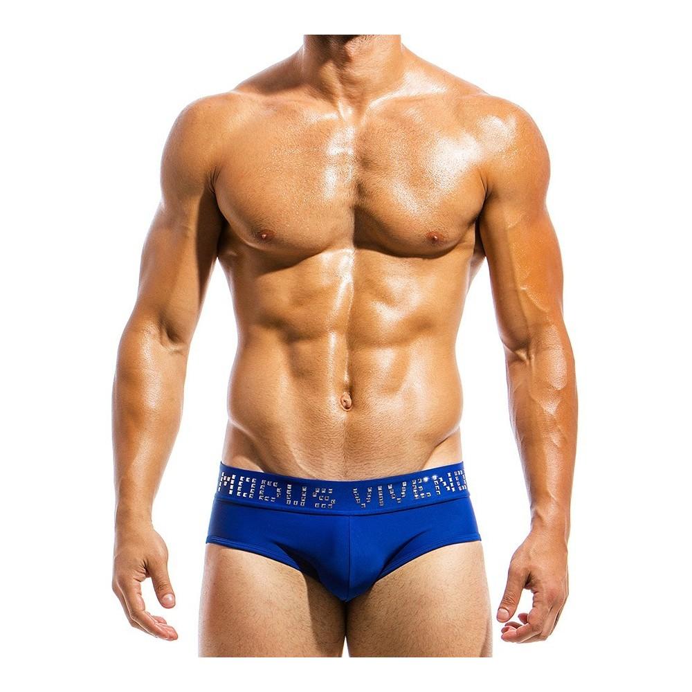 Ανδρικό μαγιό σλιπ μπλε BS1811_blue